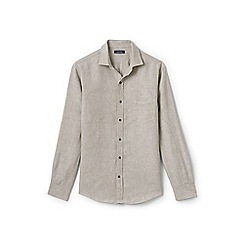 Lands' End - Beige regular linen shirt