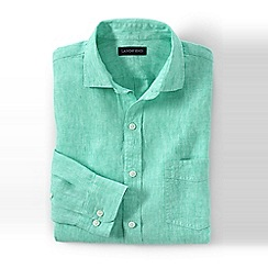 Lands' End - Green regular linen shirt