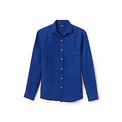 Lands' End - Blue regular linen shirt