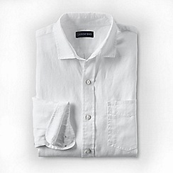 Lands' End - White regular linen shirt