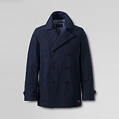 Lands' End - Blue men's cotton wax peacoat