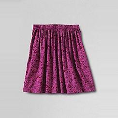Lands' End - Pink little girls' printed full gathered skirt