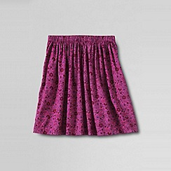Lands' End - Pink girls' printed full gathered skirt