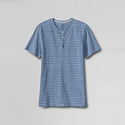 Lands' End - Multi men's slim indigo wash henley tee