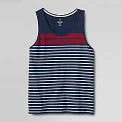 Lands' End - Multi men's slim seaworn tee stripe tank