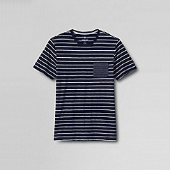 Lands' End - Multi men's seaworn crew tee indigo stripe slim