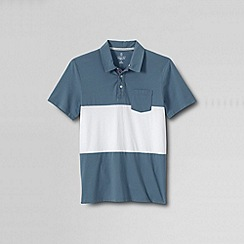 Lands' End - Multi men's slim seaworn tee - dangerous cargo maritime polo
