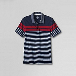 Lands' End - Multi men's slim seaworn short sleeve polo stripe