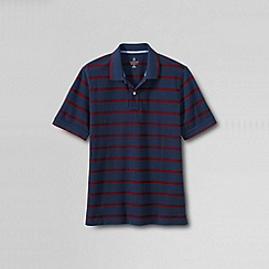 Lands' End - Multi men's original pique short sleeve stripe polo - pop collar