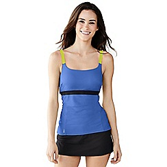 Lands' End - Blue aqua terra strappy tankini top