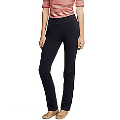 Lands' End - Black women's starfish slim leg trousers