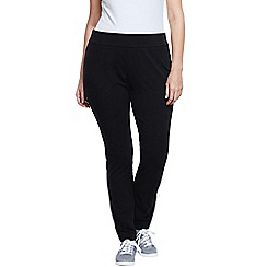Lands' End - Black women's plus starfish stretch jersey slim leg trousers