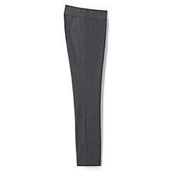 Lands' End - Grey plus starfish stretch jersey slim leg trousers