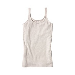 Lands' End - Beige women's light weight cotton modal rib camisole