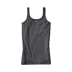 Lands' End - Grey light weight cotton modal rib camisole