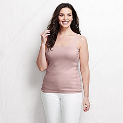 Lands' End - Pink women's light weight cotton modal rib camisole