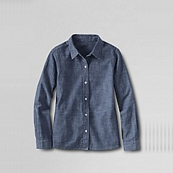 Lands' End - Blue little girls' chambray woven blouse