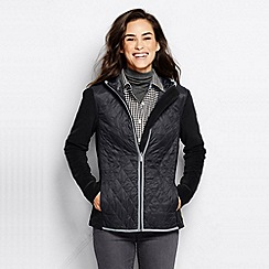 Lands' End - Black women's hybrid primaloft hooded jacket