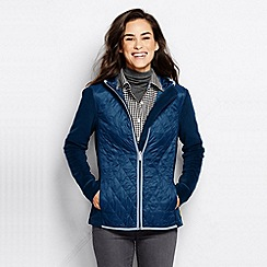 Lands' End - Blue women's hybrid primal loft hooded jacket