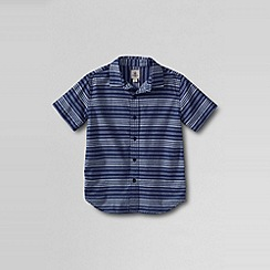 Lands' End - Blue little boys' short sleeve novelty woven shirt