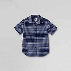 Lands' End - Blue boys' short sleeve novelty woven shirt