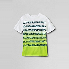 Lands' End - Green little boys' short sleeve printed dip dye jersey tee
