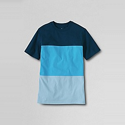 Lands' End - Blue little boys' colourblock jersey tee