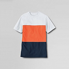Lands' End - Orange boys' colourblock jersey tee