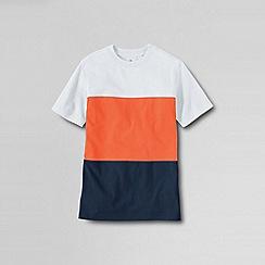 Lands' End - Orange boys' colourblock jersey tee