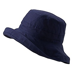 Lands' End - Blue women's cotton sun hat