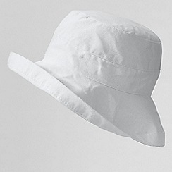 Lands' End - White women's cotton sun hat