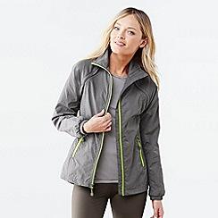 Lands' End - Grey women's performance convertible woven jacket