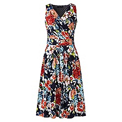 Lands' End - Multi sleeveless fit n' flare print jersey dress