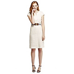 Lands' End - White woven stretch linen dress