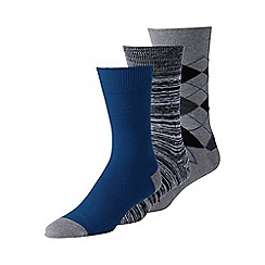 Lands' End - Multi men's cotton-rich dress socks - 3-pack