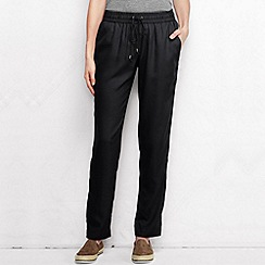 Lands' End - Black women's regular soft trousers