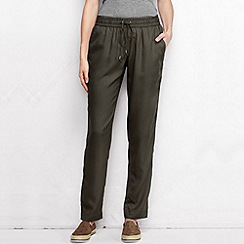 Lands' End - Green women's regular soft trousers