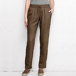 Lands' End - Beige women's regular soft trousers