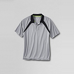 Lands' End - Grey men's active piqué polo