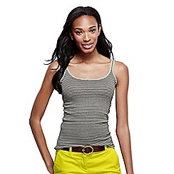 Lands' End - Blue women's striped rib cami tall
