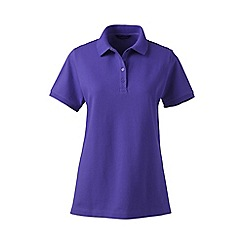 Lands' End - Purple pique short sleeve polo shirt tall