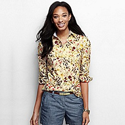 Lands' End - Multi women's regular print oxford shirt