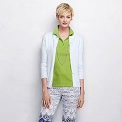 Lands' End - Green women's short sleeve pima polo shirt tall