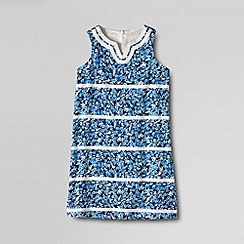 Lands' End - Cream little girls' woven shift dress