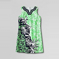 Lands' End - Green little girls' woven shift dress