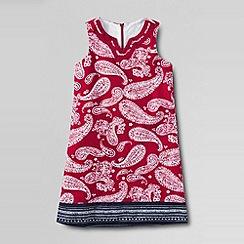 Lands' End - Red girls' woven shift dress