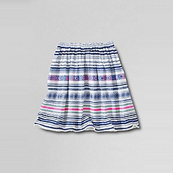 Lands' End - Blue little girls' woven gathered skirt