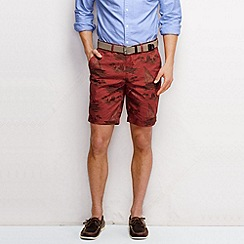 Lands' End - Red men's overdye print shorts