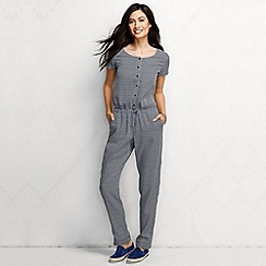 Lands' End - Blue women's regular starfish patterned tencel jumpsuit