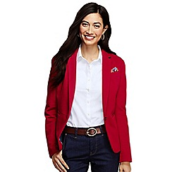 Lands' End - Red women's regular knit pique blazer